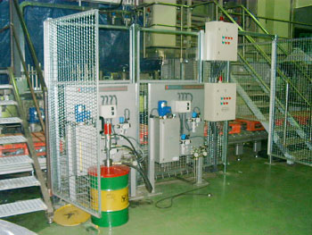 Oil and Grease lubrication system in a beverage plant