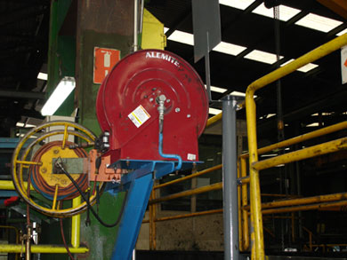 Alemite high capacity reel in a steel mill plant